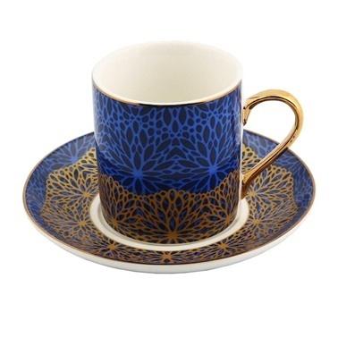 Vitale Style 6'lı Kahve Fincan Takımı Renkli